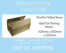 "5 x Postal & Moving Boxes Storage Boxes 24.5"" x 12.5"" x 8.5"" Inches"