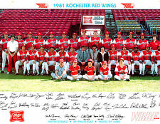 1981 ROCHESTER RED WINGS TEAM 8x10 PHOTO CAL RIPKEN JR  BASEBALL HOF ORIOLES