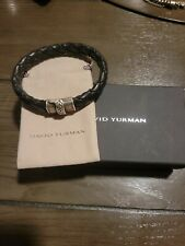 david yurman mens braided leather bracelet