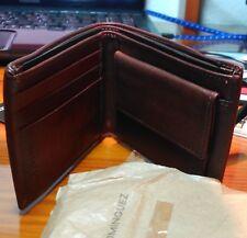 cb1add5a4 cartera billetero marrón oscuro con goma. Para hombre Adolfo Dominguez