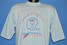 vintage 70s WEST VIRGINIA ROCKETS FOOTBALL AFA CHARLESTON JERSEY t-shirt LARGE L