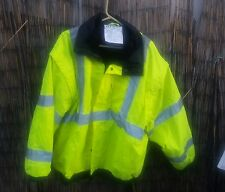 Occunomix Occulux Bomber Jacket 2XL Yellow LUX-TJBJ Safety Coat Sleeves come off