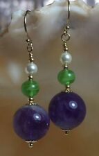 Earrings Amethyst 14k Vintage & Antique Jewellery