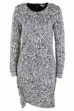 BNWT JAG DRESS Size S 10 Long Sleeve Jacquard  Black White