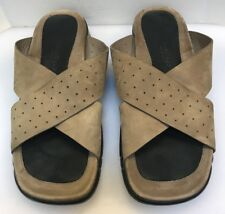 Cole Haan Country Men 13 M Sandals Slides Leather NikeAir Beige Taupe C02128
