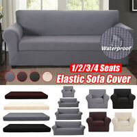 2-piece Set Waterproof Elastic Stretch Sofa Cover Slipcover Furniture Protector
