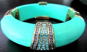 HEIDI DAUS Say It With Style Crystal Resin Turquoise Bracelet