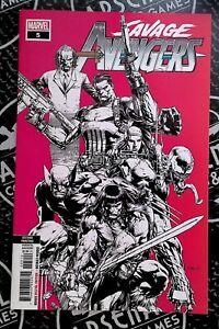 Savage Avengers #5 2nd Print 2019 Marvel Comics RARE Low Print Finch Cover art