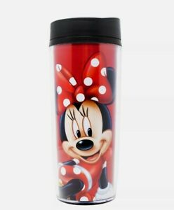 Disney Minnie Mouse in Polka Dots Travel Mug Red NEW