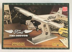 1996 Ertl Collectibles 1/82 Ford Tri-Motor Diecast Plane w Stand H196 NIB