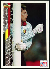 Michel Preud' Homme, Belgium #81 World Cup USA '94, (Eng/Ger) Card (C385)
