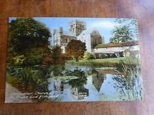 R103 WINCHESTER, Church of St. CROSS & Fishpond Postcard Frith Series 55879