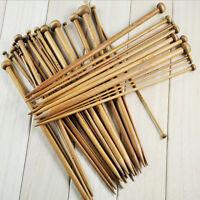 36 x 18 Sizes Carbonized Bamboo Single Pointed Crochet Knitting Needles 1 Set