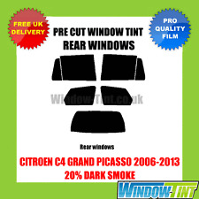 CITROEN C4 GRAND PICASSO 2006-2013 20% DARK REAR PRE CUT WINDOW TINT