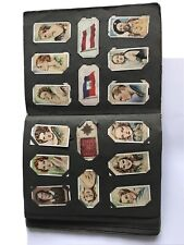 More details for vintage cigarette card album of 250 cards - varied conditions but collectable