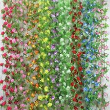 Beauty Fake Silk Rose Flower Ivy Vine Hanging Garland Wedding Good Life Decor Mg