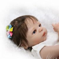 22'' Handmade Lifelike Newborn Silicone Vinyl Bebe Reborn Full Body Girl Doll 1X