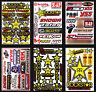 60++ Teilig Motocross Motorrad Helm Stickers Aufkleber Embleme Auto Tuning Vinyl