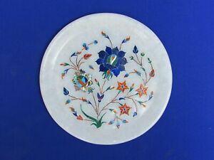 """7 """" Marmor Platte Pietra Dura Lapis Handmade Halbedelstein Heim Dekor"""