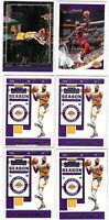 (6 LOT) LeBron James Panini Contenders NBA Hoops Courtside Lakers Card Lot