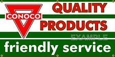 CONOCO GAS STATION VINTAGE SIGN OLD SCHOOL REMAKE BANNER SHOP GARAGE ART 2 X 4