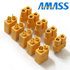 5 Pairs AMASS XT60 Male/Female Bullet Connectors Plugs For charge Lipo