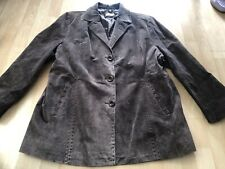 Yours Size 22 Brown Suede Leather Jacket Plus Boho