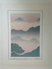SERIGRAPHIE LA MONTAGNE SACREE II - BY MISTRAL CANADA 1987