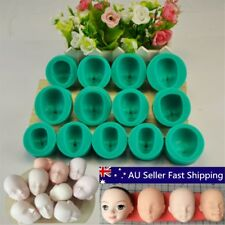13 Styles Silicone Mould Doll's Face Sugarcraft Cake Decorating Fondant Set NEW