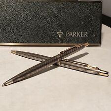 Parker 75 Classic Sterling Silver Cicelé Ballpoint & Pencil Set
