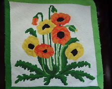 Needlepoint Poppy Pillow Cover Very Nice