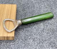 VINTAGE Rare BOTTLE OPENER KITCHEN/BAR UTENSIL GREEN MARBLED BAKELITE HANDLE