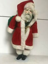 "Santa Claus Doll with Stand 16"" TALL Christmas Holiday"