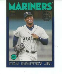 2021 TOPPS BASEBALL KEN GRIFFEY, JR. BLUE BORDERED 86 RETRO INSERT CARD #86B-60