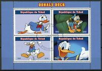 Chad Disney Stamps 2019 CTO Donald Duck Cartoons Animation 4v M/S II