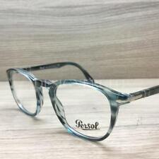 Persol 3143-V 3143 Eyeglasses Striped Grey Blue 1051 Authentic 49mm