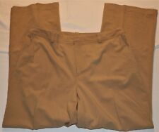 Dress Pants Size 16 Worthington Tan Khaki Polyster Stretch Slacks Flat Front
