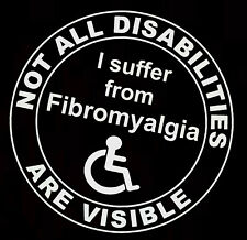 1x Fibromyalgia- Not All Disabilities Are Visible Vinyl, car sticker