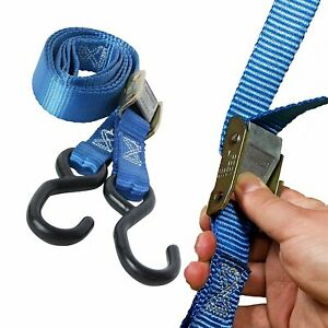 Black 4Pcs MroMax Lashing Strap 39.3-Foot 1-Inch Cargo Tie Down Straps Cam Lock Buckle Approx to 51kg //112.4 lb