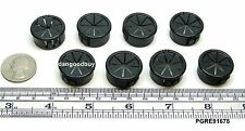 "8 Snap-In Expandable Locking Plastic Grommets- Fits 7/8"" Opening - Black Nylon"