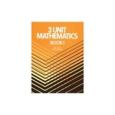 3 Unit Mathematics Book 1 by Jones HSC YEAR 11/12