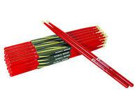 10 Paar  Drumsticks - DIMAVERY DDS-5A - Ahorn, rot