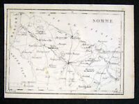 1833 Perrot Tardieu Map Somme Amiens Abbeville France - Miniature Antique Map
