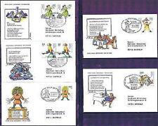 BRD 1994: Jugend-FDC Nr. 1726-1730 Stempel Pforzheim, Trier u.a.! Gelaufen! 1602