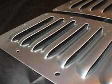 """Pair of 5"""" Aluminum Hood Bolt-on panels Cooling Jeep 4X4 7 louvers by Rodlouvers"""