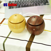 Ultrasonic Ball Shape Wooden Style Aroma Humidifier Air Diffuser Purifier