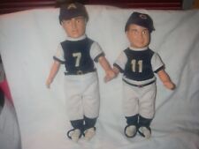 "BUD ABBOTT & LOU COSTELLO ""WHO'S ON FIRST"" DOLL SET 1984 CBS TOYS PREOWNED"