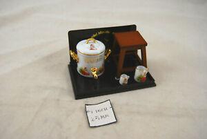 Christmas Gluhwein Set w/ Stool - 1.634/6 miniature dollhouse 1/12 scale Reutter
