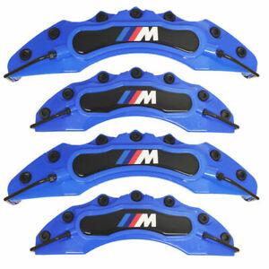 4x BMW M Brake Caliper Cover Front Rear Power Rim Wheel Set Car Series Blue