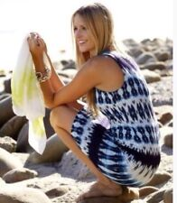 Karen Kane - Large Blue Electric Tide Ikat Print Sleeveless Dress $128.00 (H)